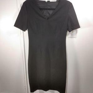 Tahari Star Neck Cap Sleeve Stretch Crepe Dress